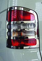 Накладки на стопы Volkswagen T5 (фольксваген т5), нерж. (1 дв. багажник)