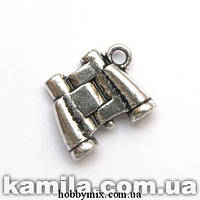 """Метал. подвеска """"бинокль"""" серебро (1,6х1,4 см) 3 шт в уп."""