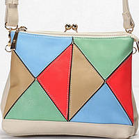 Женская сумка Giorgio Ferrilli  светло бежевая с цветной отделкой