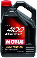 МОТОРНОЕ МАСЛО ПОЛУСИНТЕТИКА Motul 4100 Multidiesel 10W40 (5л)