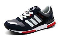Кроссовки Adidas ZX 700 мужские, серые с синим, фото 1