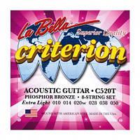 Струны для акустической гитары La Bella С520Т