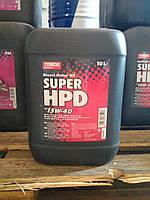 Моторное минеральное масло Teboil Super HPD 15W-40 (10л.) для дизельных двигателей тяжёлого транспорта