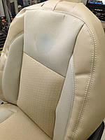Чехлы Premium экокожа+ткань для Hyundai Sonata NF (Хюндай Соната НФ) 2004-09г.