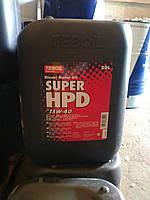 Моторное минеральное масло Teboil Super HPD 15W-40 (20л.) для дизельных двигателей тяжелой техники