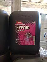 Трансмиссионное масло Teboil Hypoid 80W-90, (20л.) для легковых автомобилей и тяжелых транспортных средств