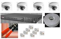 Комплект IP видеонаблюдения Виджио-04P