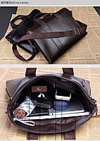 Мужская сумка-портфель POLO. Стильный портфель. Интернет магазин. Мужская сумка для офиса. Код:  КСЕМ4