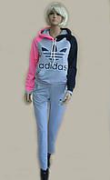 Женский спортивный костюм с надписью Adidas с толстовкой