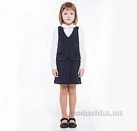 Школьная юбка в складку Panda ПА-00254-14 синяя 30 (Р-116, ОГ-60, ОТ-54)