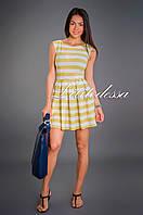 Платье в полоску желтый