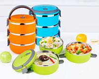 Переносная термоемкость для хранения продуктов 3 Layer Lunch Box