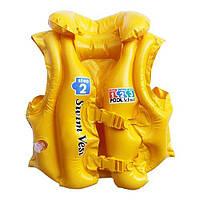 Надувной жилет  желтый  INTEX 58660