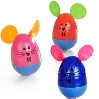 Pet Pro Мышь неваляшка игрушка для котов пластик