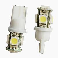 Лампа светодиодная Т10-5 на 5 диодов. Безцокольная