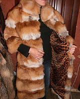 Шубка из меха лисы