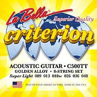 Струны для акустической гитары La Bella С500ТT