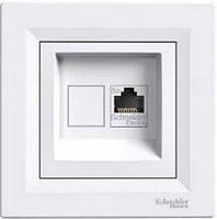 Розетка телефонная белая ASFORA Schneider electric EPH4100121