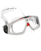 Очки для плавания Aqua Sphere Seal 2.0, clear lens white/red
