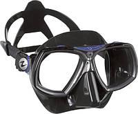 Маска для снорклинга AquaLung Look 2; чёрно-синяя