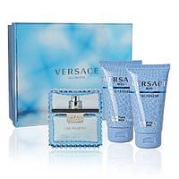 Versace Man Eau Fraiche туалетная вода 100 ml+гель д/д 50 ml+бальзам п/бритья 50 ml+косметичка мужской НАБОР