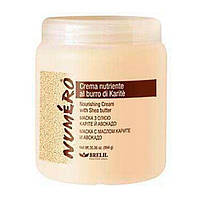 Brelil Numero Nourishing Cream With Shea Butter маска для волос с маслом карите и авокадо - 1000 ml