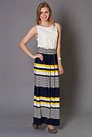 Молодежное платье из гипюра и трикотажа