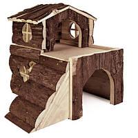 Trixie Bjork House домик из натурального дерева для мелких грызунов 15х15х16см