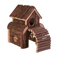 Trixie Finn House домик из натурального дерева для мелких грызунов 13х20х20см