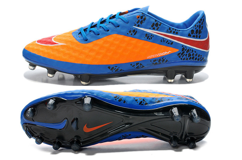 Футбольные бутсы Nike HyperVenom Phantom FG Blue/Orange