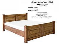 """Кровать деревянная """"Милениум"""" дерево дуб, цвет орех"""