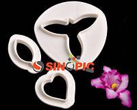 """Вырубка для мастики """"Сингапурская орхидея"""" 3шт(00571)"""
