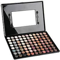 Палитра/палетка теней для макияжа 88 цветов теплые+ В ПОДАРОК Серьги Пуссеты Mise en Dior матовые