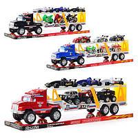 Детская игрушка Трейлер F 2575-2616-7 A с машинками