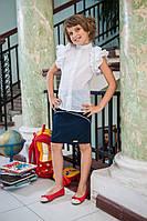 Летняя хлопковая блузка для девочки 227 без рукавов
