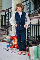 Брючный школьный костюм для девочки  624 оптом и в розницу