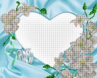 Схема для вышивки бисером рамка под фотографию Серебряная свадьба