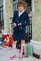 Детский школьный костюм для девочки: пиджак и юбка 618 Мелкий опт
