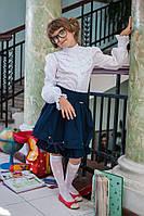 Красивая детская блуза с рюшем 230 от производителя