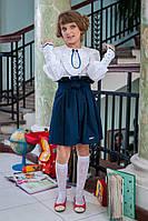Модная юбка для девочки в школу 518 с поясом