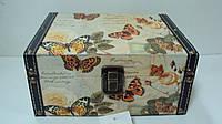 Шкатулка для украшений Бабочки размер 21*16*10