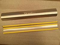 Защитные хром накладки на пороги Renault trafic (рено трафик 2001г+)
