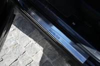 Накладки на пороги toyota Rav 4 до 2013 г.в. (тойота рав 4), 4 шт. логотип гравировкой, нерж.