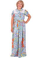 Красивое женское платье больших размеров длинное в пол