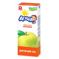 """Сок детский осветленный """"Яблоко"""" Агуша, 200мл от 3 мес."""