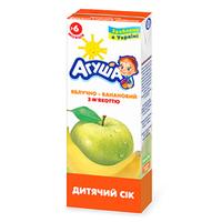 """Сок детский с мякотью """"Яблоко-банан"""" Агуша, 200мл от 3 мес."""