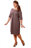Платье  шерстяное ,ниже колена ,платье футляр офисное,Пл 167-3, мокко , трапеция.