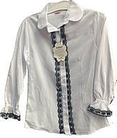 Женская блузка подросток рюшки черные