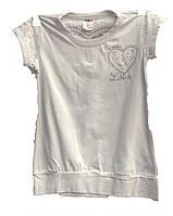 Женская футболка с сердцем подросток
