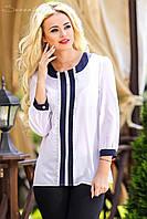 Классическая женская блузка прямого покроя (M)